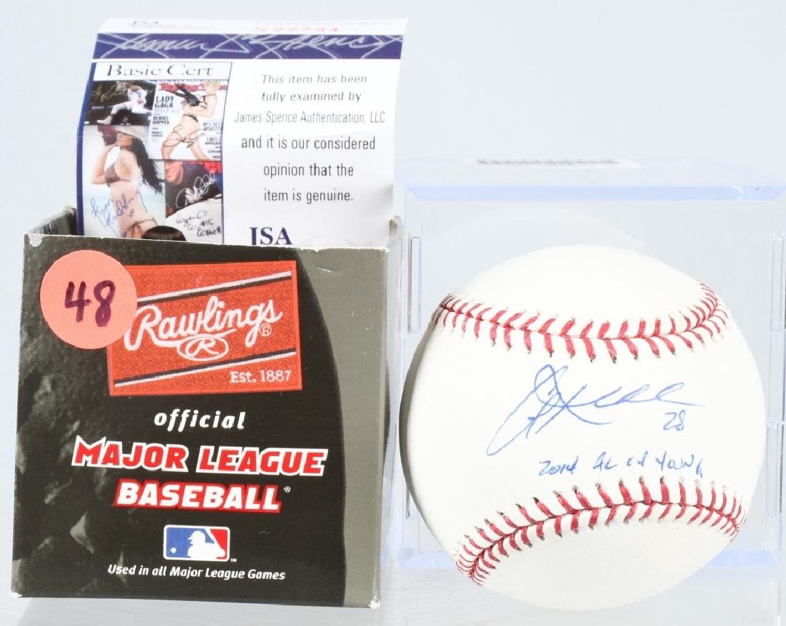 COREY KLUBER BASEBALL SIGNED W/ CY YOUNG INSCRIPT