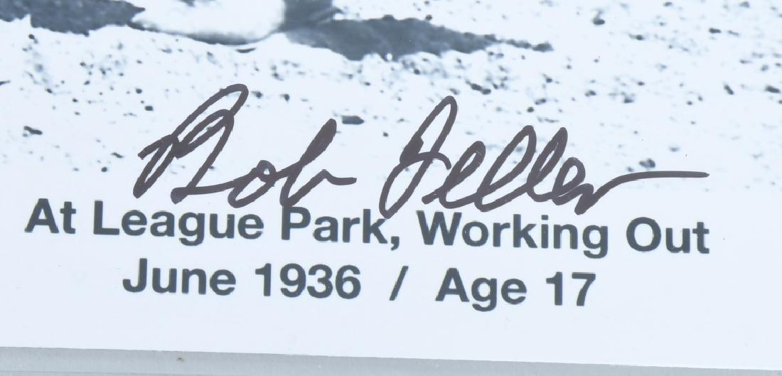 BOB FELLER CLEVELAND INDIANS SIGNED GROUP - 3