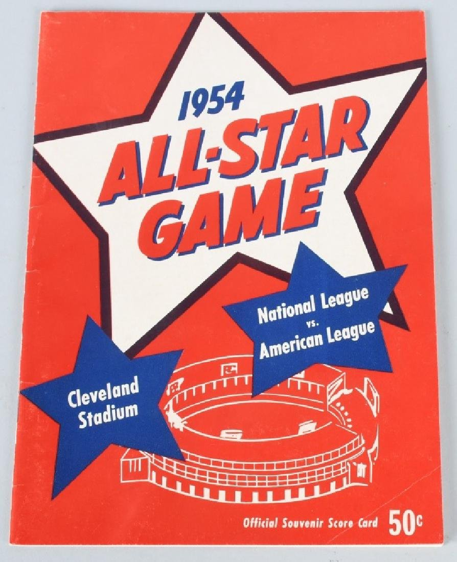 1954 BASEBALL ALL STAR GAME PROGRAM - CLEVELAND
