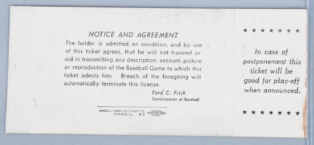 1954 BASEBALL ALL STAR GAME TICKET - CLEVELAND - 2