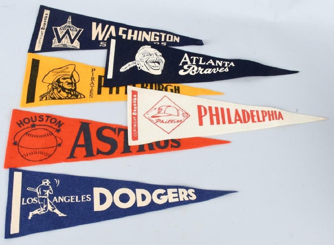 OLD NATIONAL LEAGUE MINI FELT BASEBALL PENNANTS