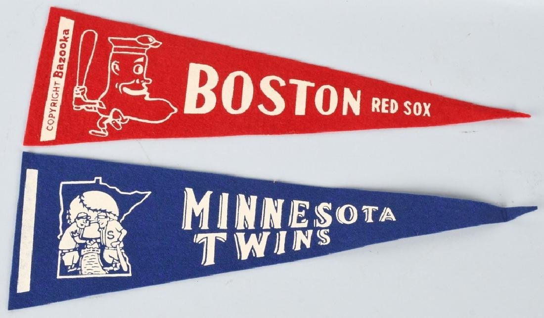 OLD AMERICAN LEAGUE MINI FELT BASEBALL PENNANTS - 2