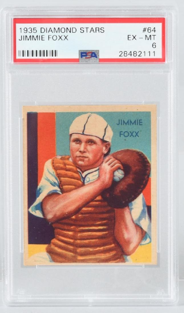 1934 DIAMOND STARS JIMMY FOXX BASEBALL CARD #64