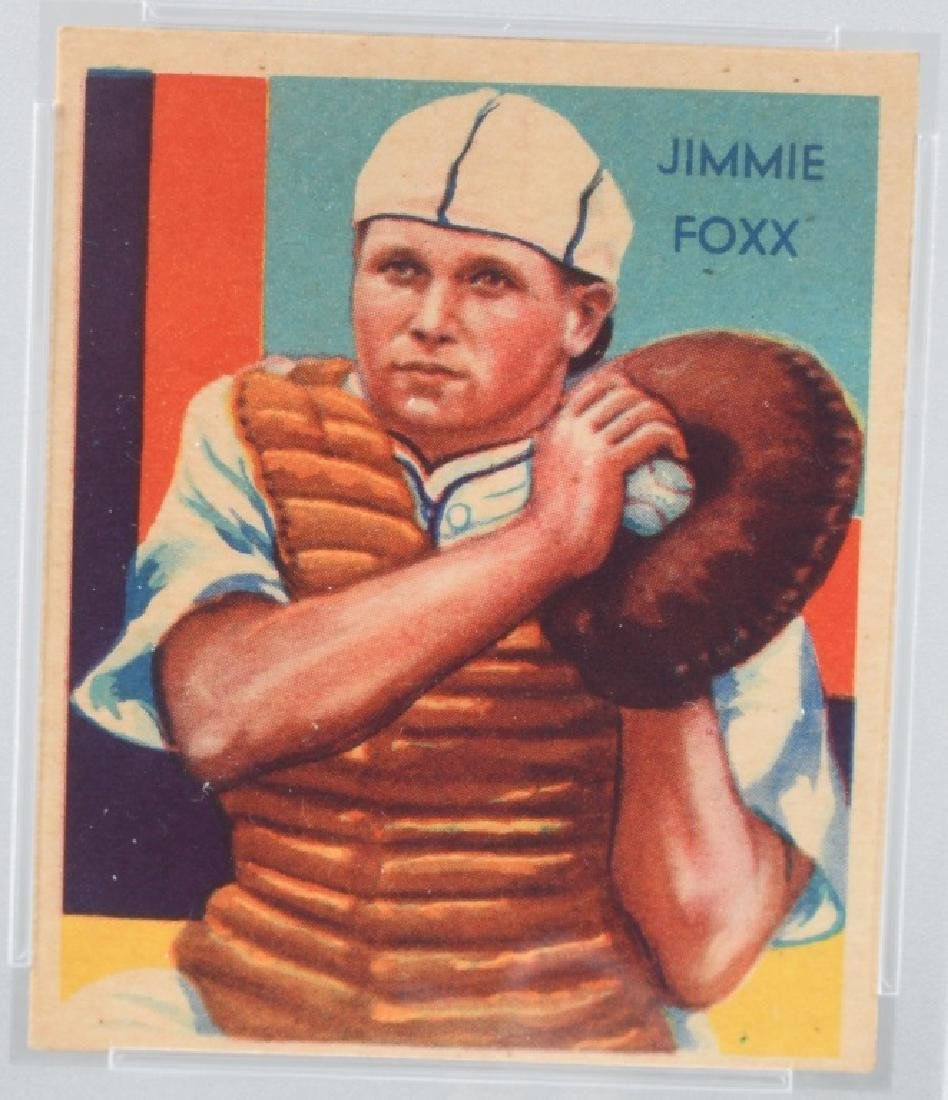 1934 DIAMOND STARS JIMMY FOXX BASEBALL CARD #64 - 2