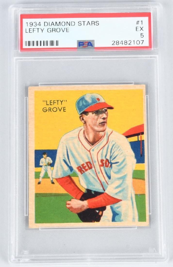 1934 Diamond Stars 1 Lefty Grove Psa 5