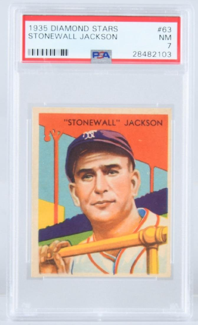 1935 DIAMOND STARS STONEWALL JACKSON CARD #63 PSA