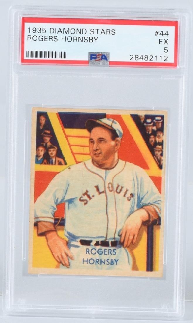 1935 DIAMOND STARS ROGERS HORNSBY CARD #44 PSA