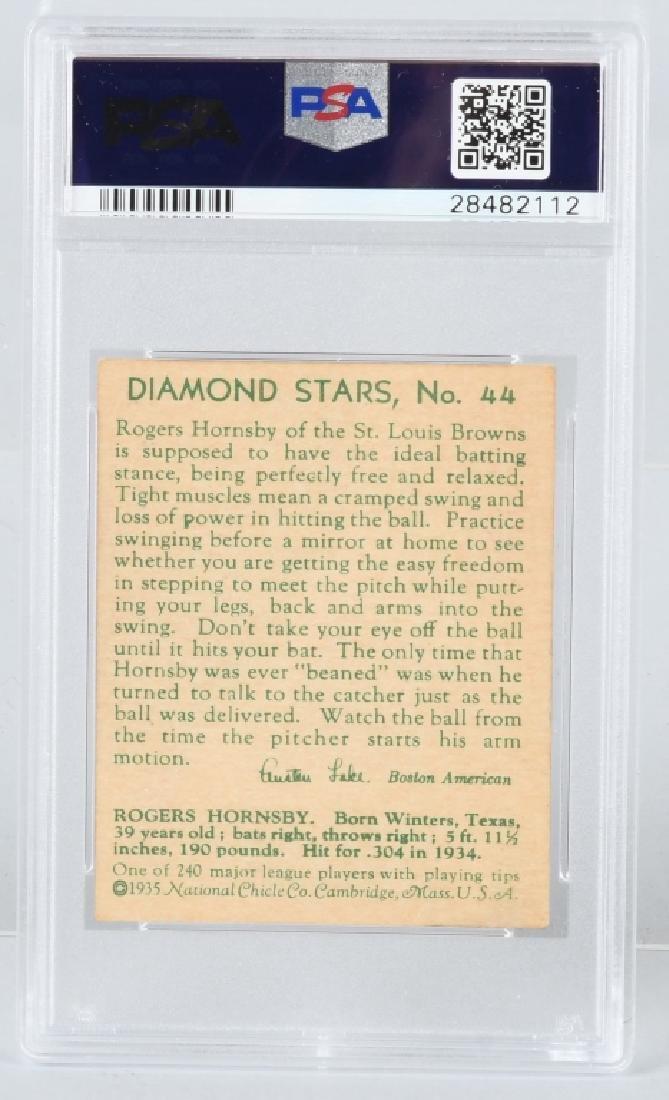 1935 DIAMOND STARS ROGERS HORNSBY CARD #44 PSA - 3