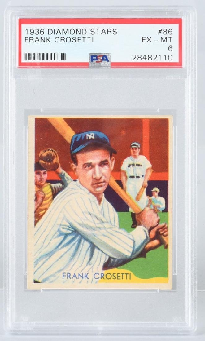 1936 DIAMOND STARS FRANK CROSETT CARD #86 PSA