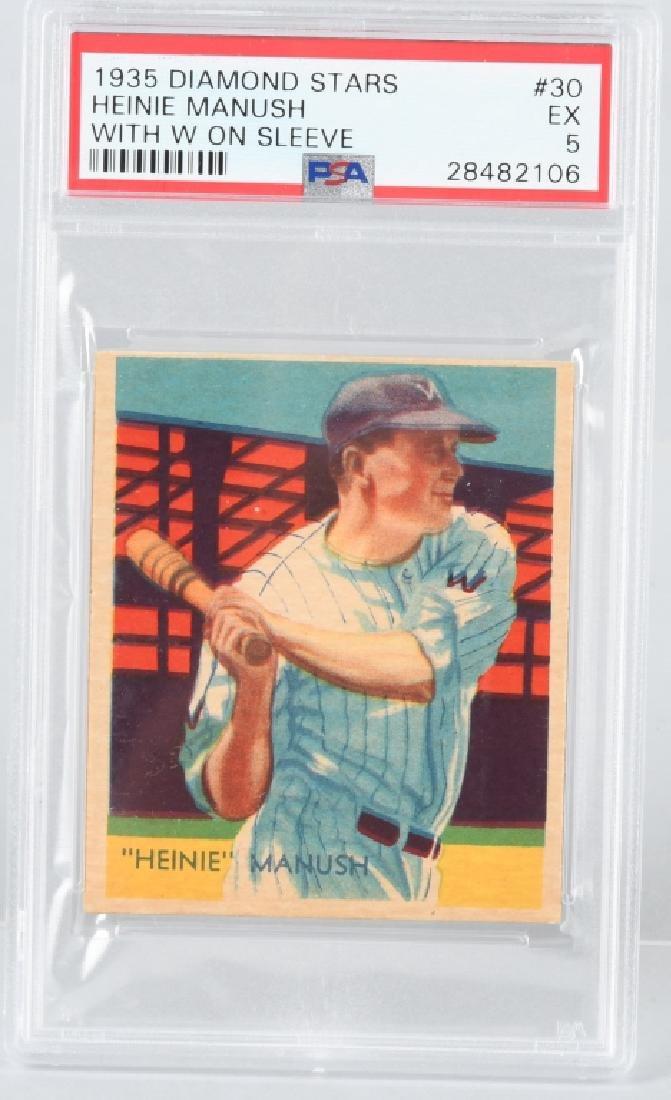 1935 DIAMOND STARS HEINIE MANUSH CARD #30 PSA