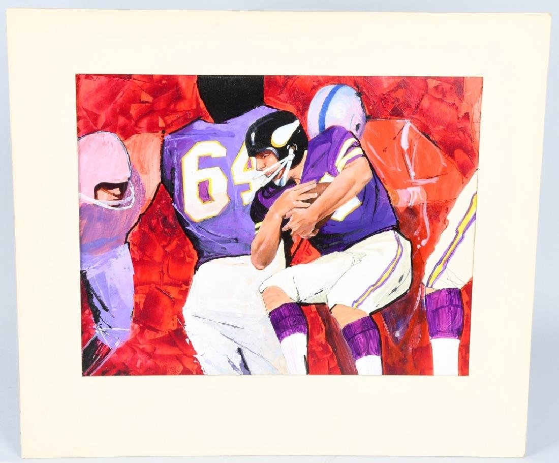 MINNESOTA VIKINGS ORIGINAL OIL PAINTING