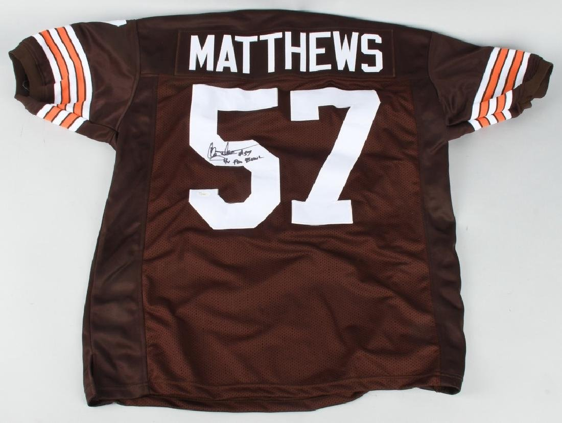 CLEVELAND BROWNS CLAY MATHEWS SIGNED JERSEY
