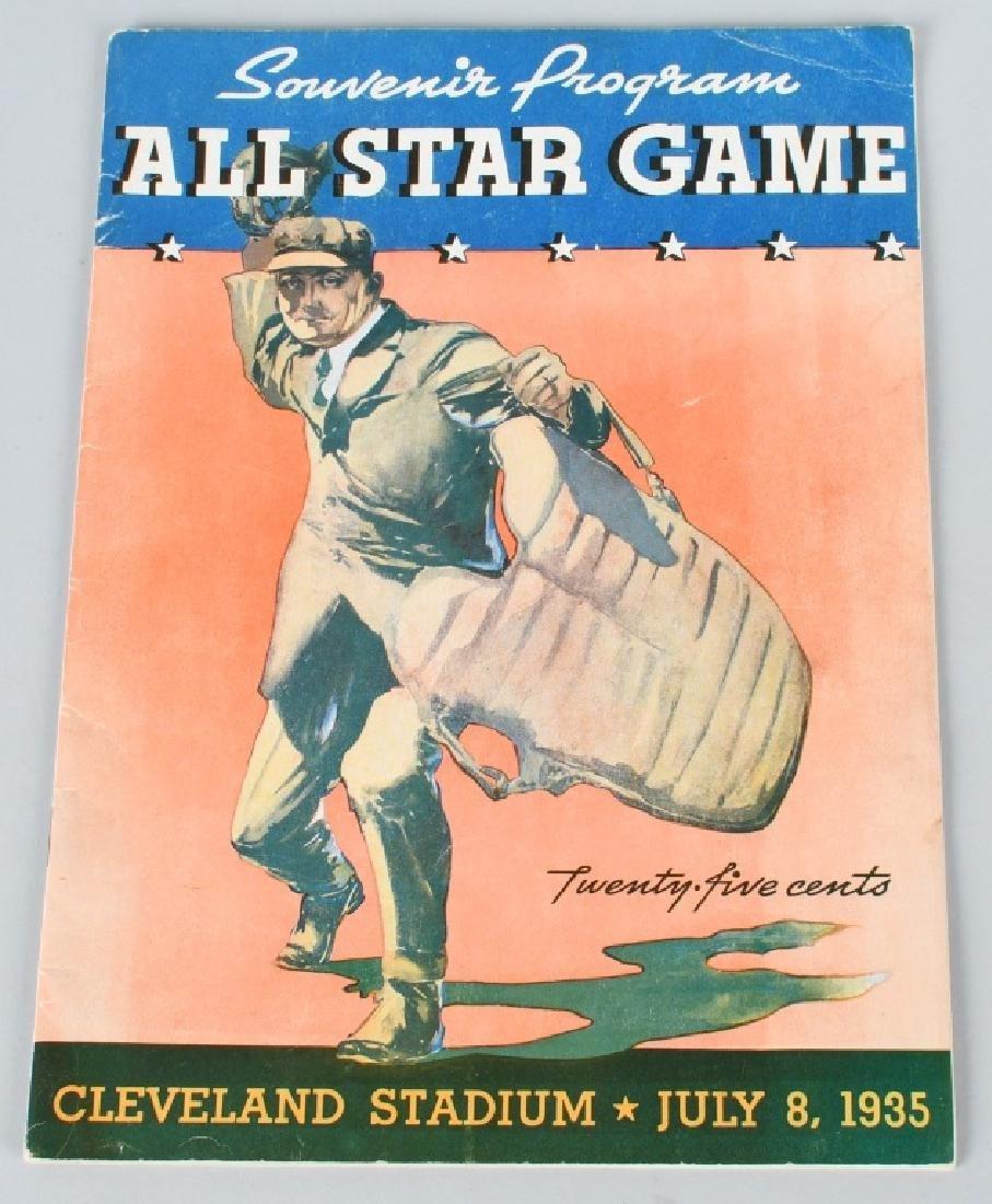 1935 BASEBALL ALL STAR GAME PROGRAM CLEVELAND