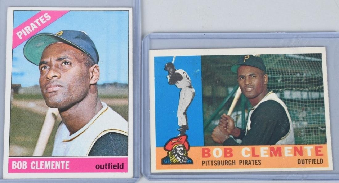 ROBERTO CLEMENTE TOPPS 1960 & 1966 BAEBALL CARDS