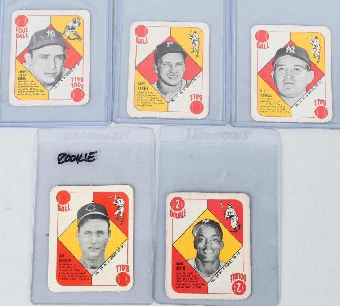1951 TOPPS RED BACKS BASEBALL CARDS (5) BERRA #1