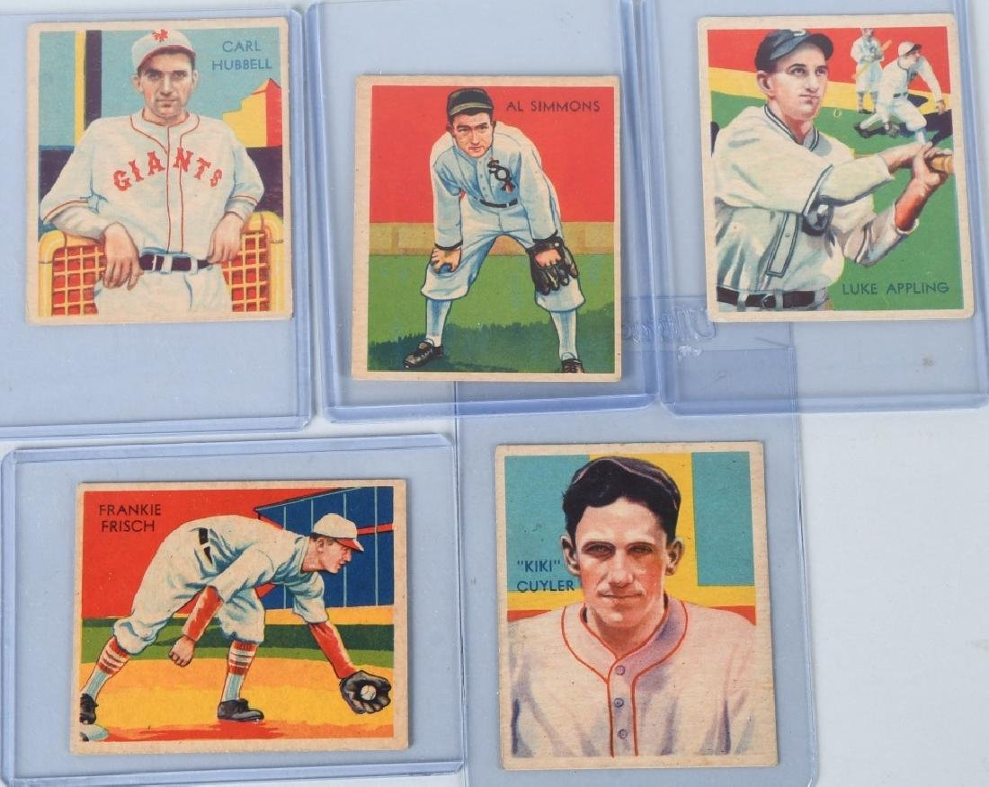 1934-1936 DIAMOND STARS BASEBALL CARD LOT (5)