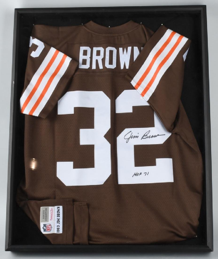 JIM BROWN SIGNED CLEVELAND BROWNS JERSEY