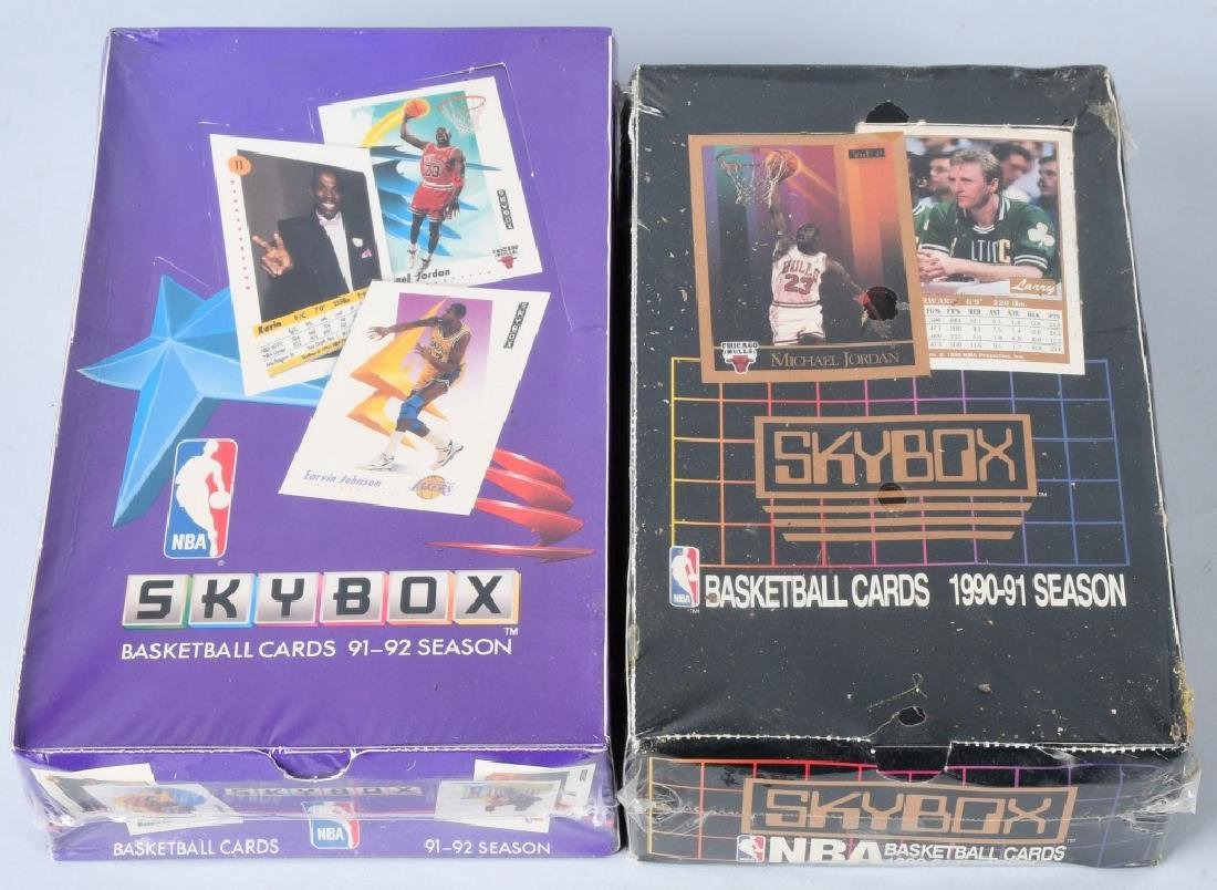 90-91 & 91-92 SKYBOX NBA BASKETBALL WAX BOXES