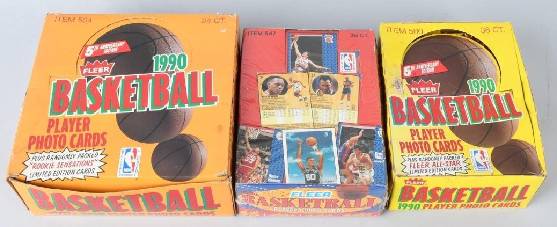 2- 1990 & 1992 FLEER NBA BASKETBALL WAX BOXES