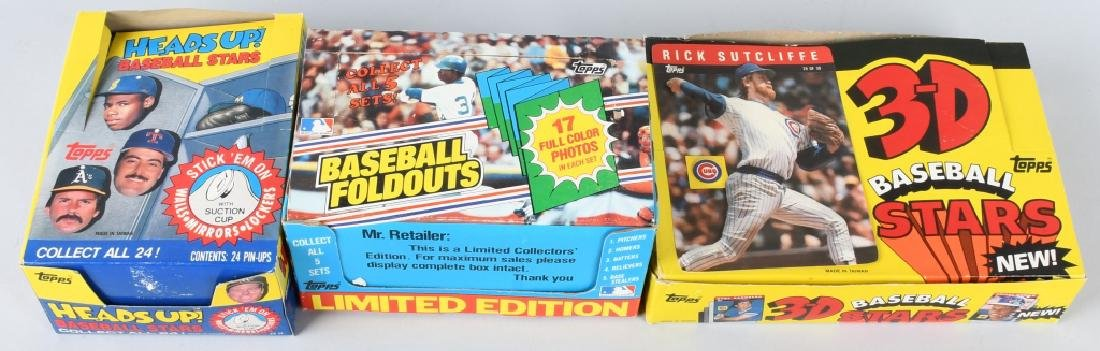 1983, 1985, & 1990 TOPPS BASEBALL WAX BOXES