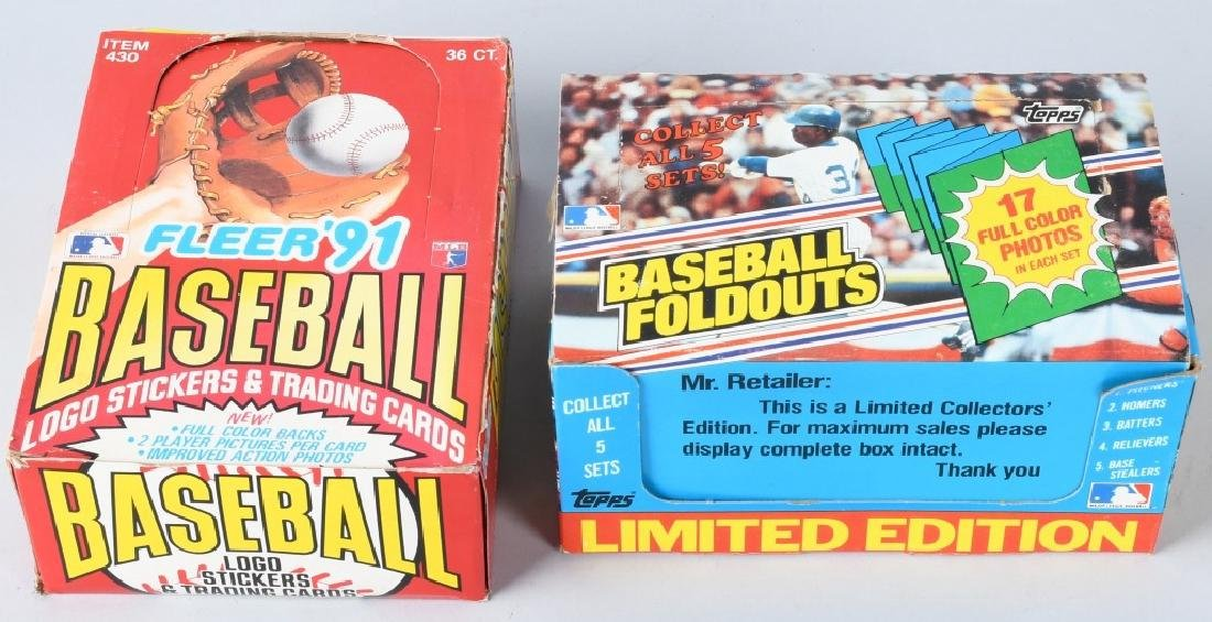 1983 TOPPS AND 1991 FLEER BASEBALL WAX BOX
