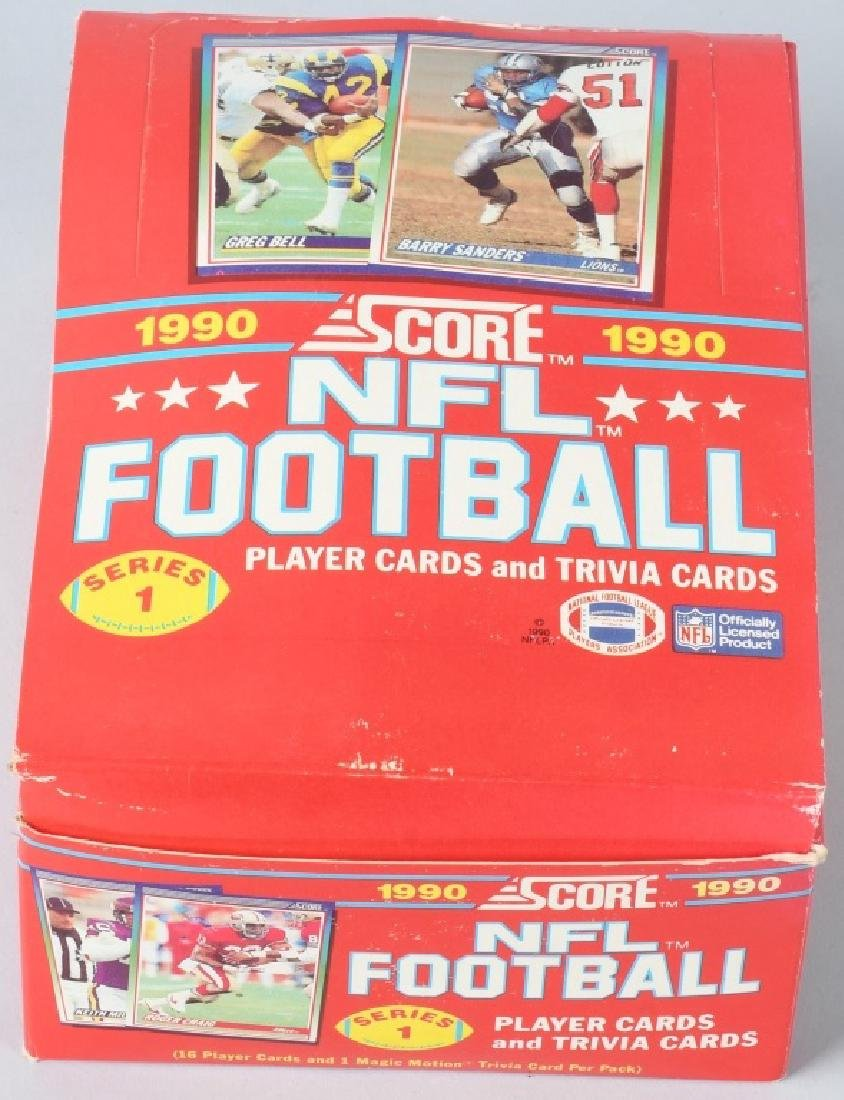 1990 SCORE FOOTBALL FULL WAX BOX