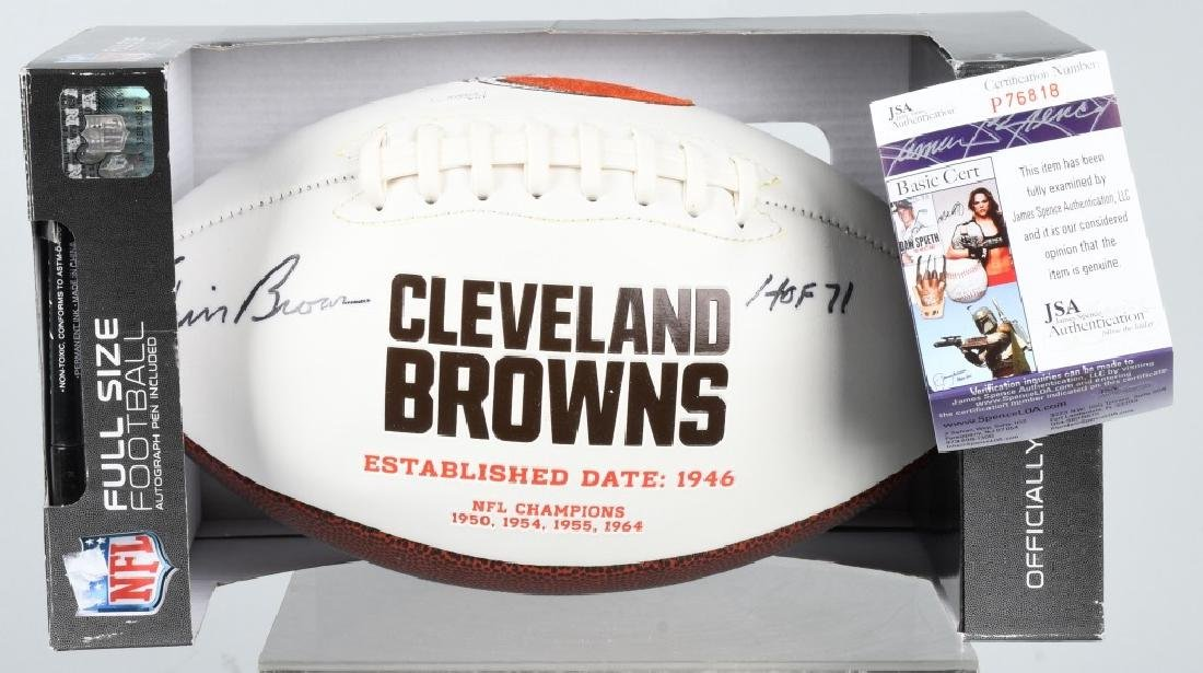 JIM BROWN FULL-SIZE SIGNED COMMEMORATIVE FOOTBALL