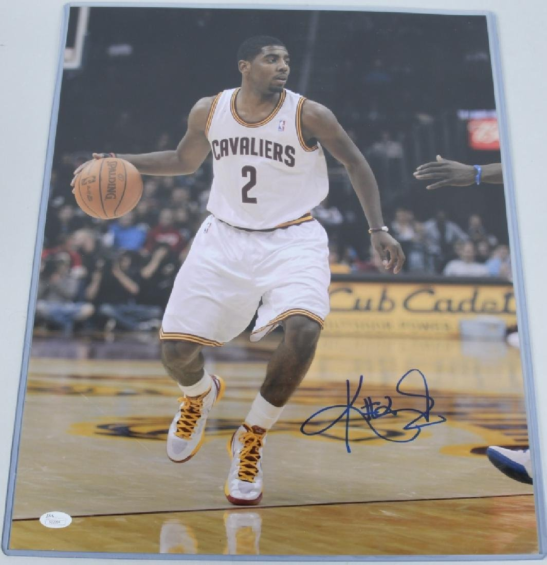 CLEVELAND CAVALIERS KYRIE IRVING SIGNED PHOTO