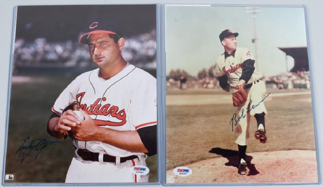 BOB LEMON AND EARLY WYNN SIGNED 8X10 PHOTOS