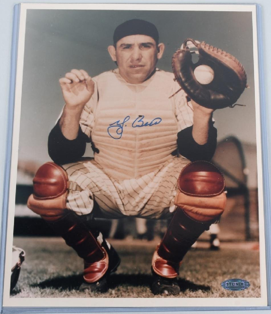 YOGI BERRA VINTAGE SIGNED COLOR 8X10 PHOTO