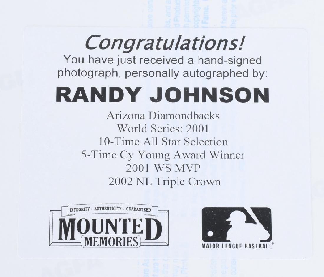 RANDY JOHNSON COLOR SIGNED 8X10 ACTION PHOTO - 4