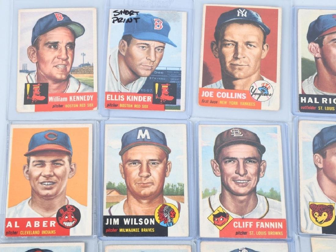 1953 TOPPS BASEBALL CARD LOT - 20 CARDS - 2