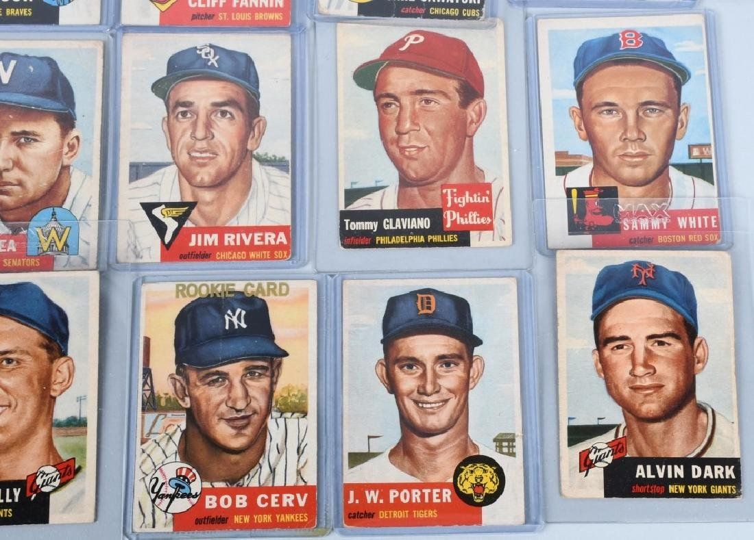 1953 TOPPS BASEBALL CARD LOT - 20 CARDS - 4
