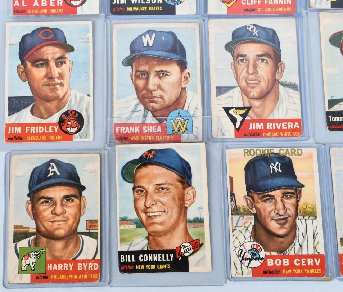 1953 TOPPS BASEBALL CARD LOT - 20 CARDS - 5