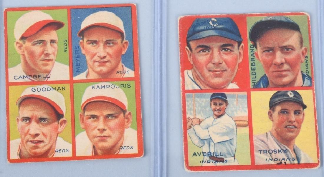 1935 GOUDEY 4-IN-1 SIX BASEBALL CARD LOT - 2