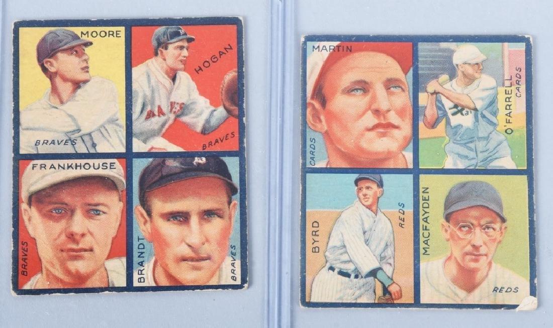 1935 GOUDEY 4-IN-1 SIX BASEBALL CARD LOT - 3