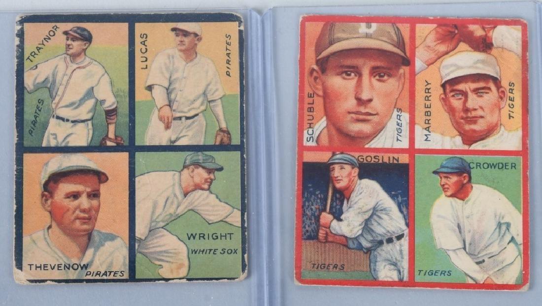 1935 GOUDEY 4-IN-1 SIX BASEBALL CARD LOT - 4