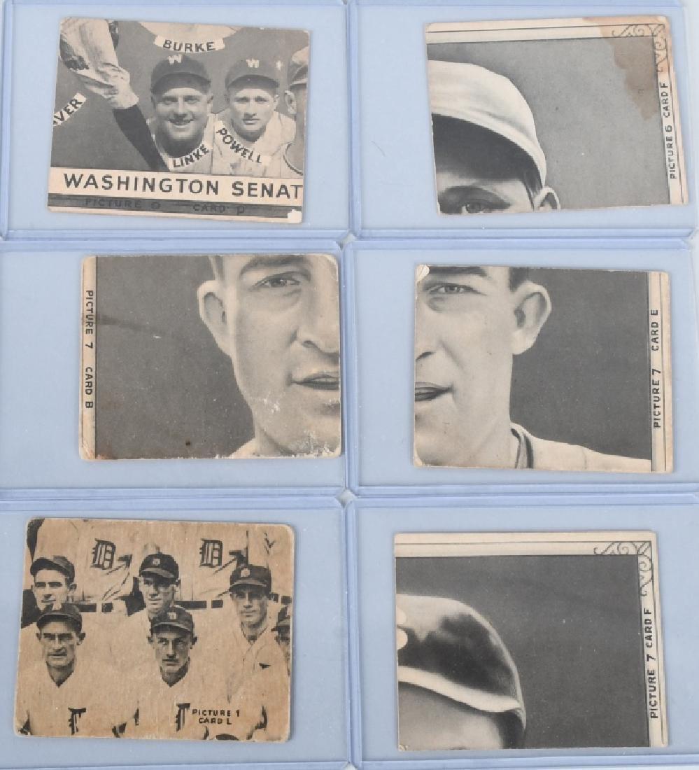 1935 GOUDEY 4-IN-1 SIX BASEBALL CARD LOT - 5