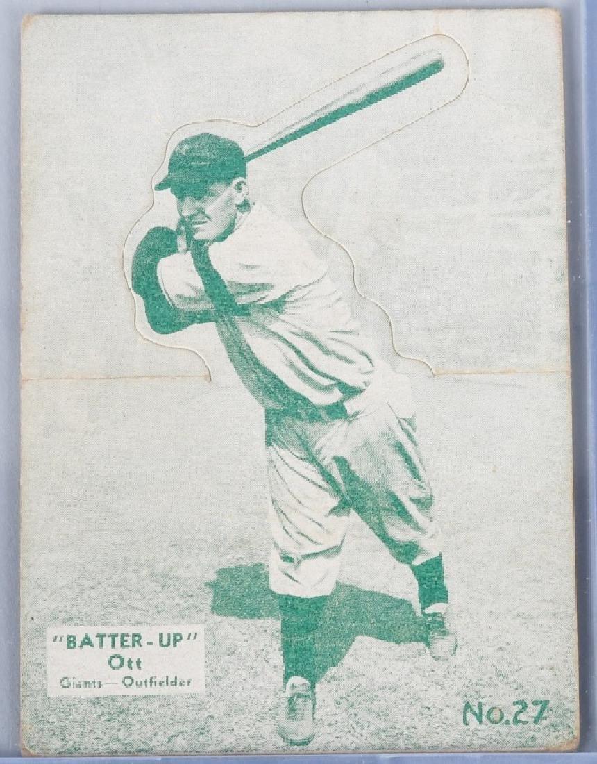 1934 1936 Batter Up R318 Mel Ott Baseball Card