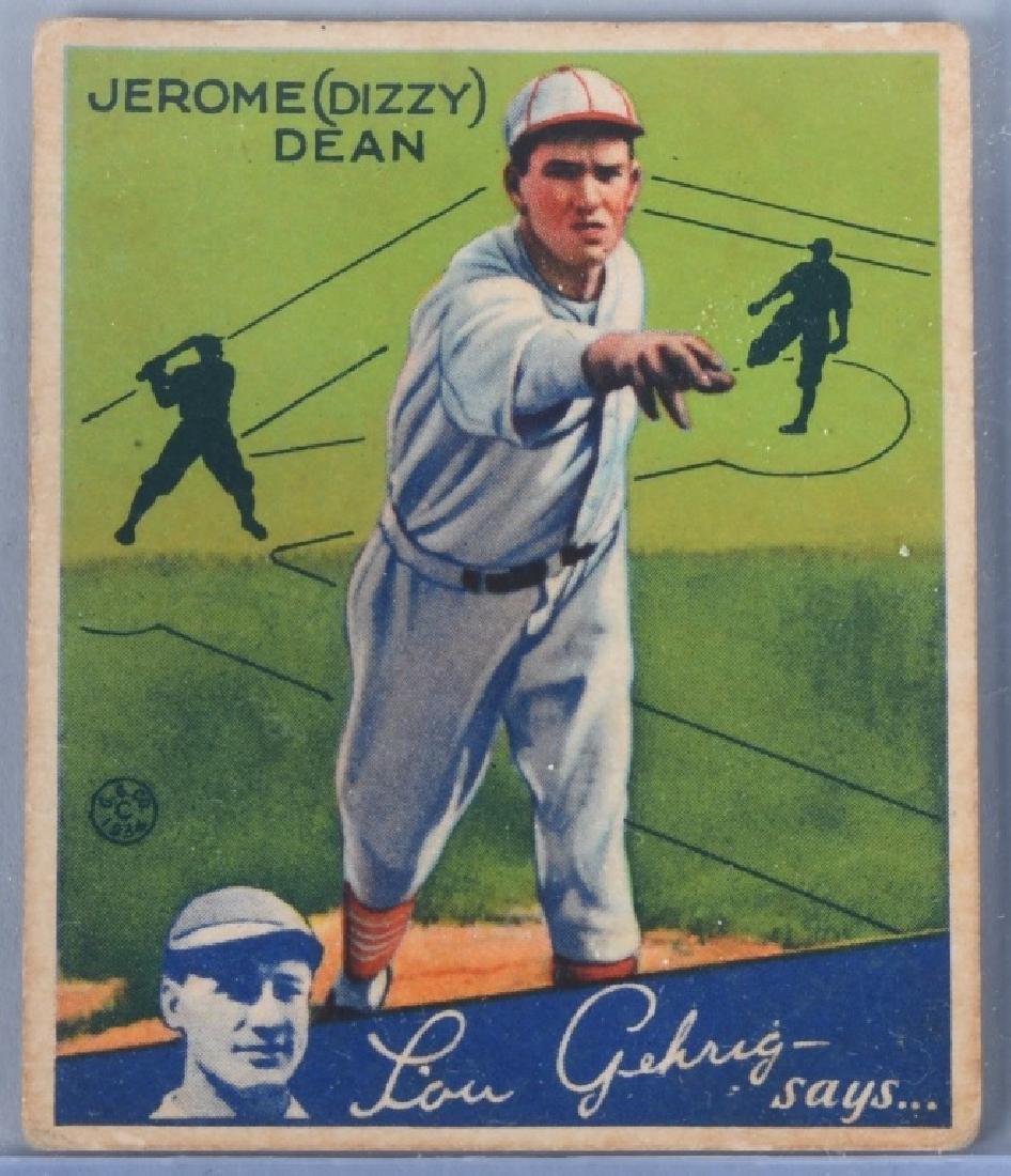 1934 GOUDEY (R320) DIZZY DEAN BASEBALL CARD #6