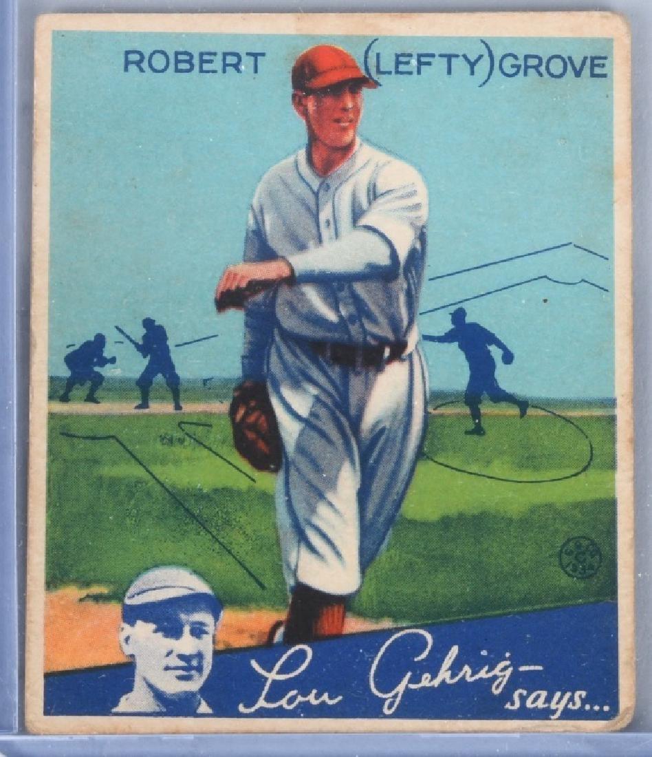 1934 GOUDEY (R320) LEFTY GROVE BASEBALL CARD #19