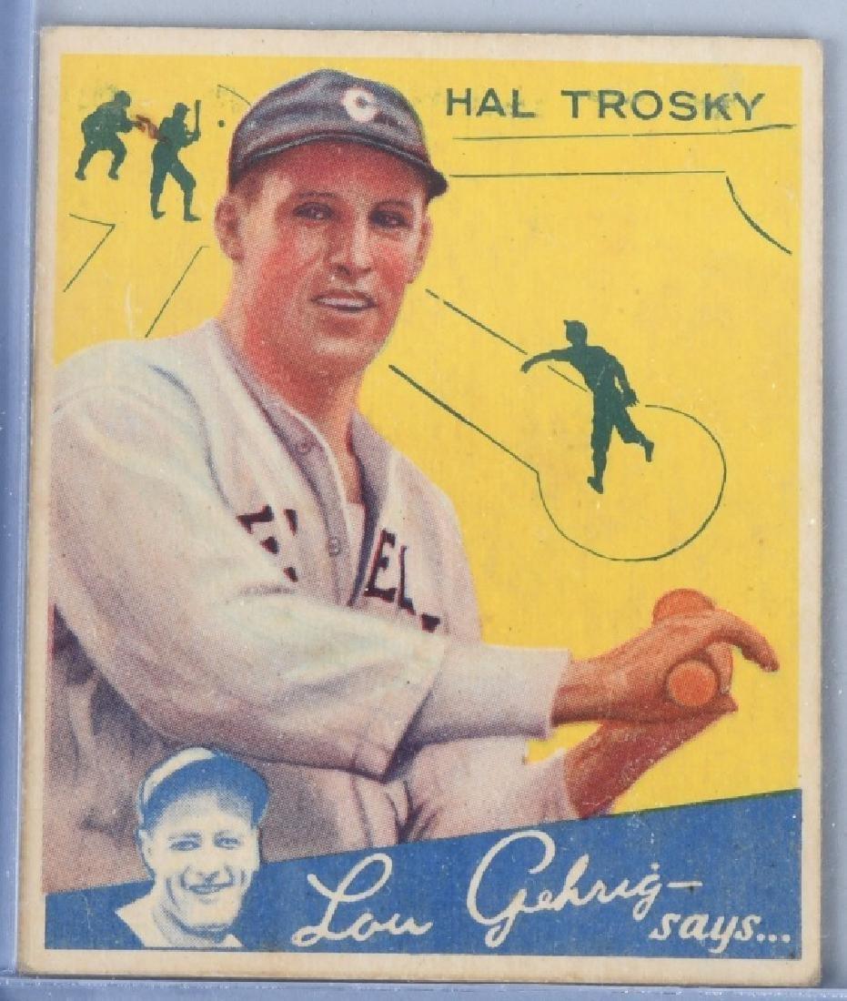 1934 GOUDEY (R320) HAL TROSKY BASEBALL CARD #76