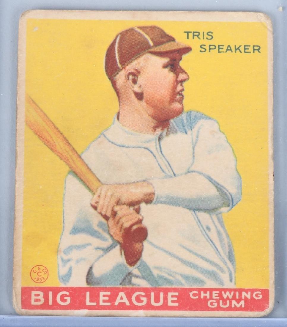 1933 GOUDEY (R319) TRIS SPEAKER BASEBALL CARD #89