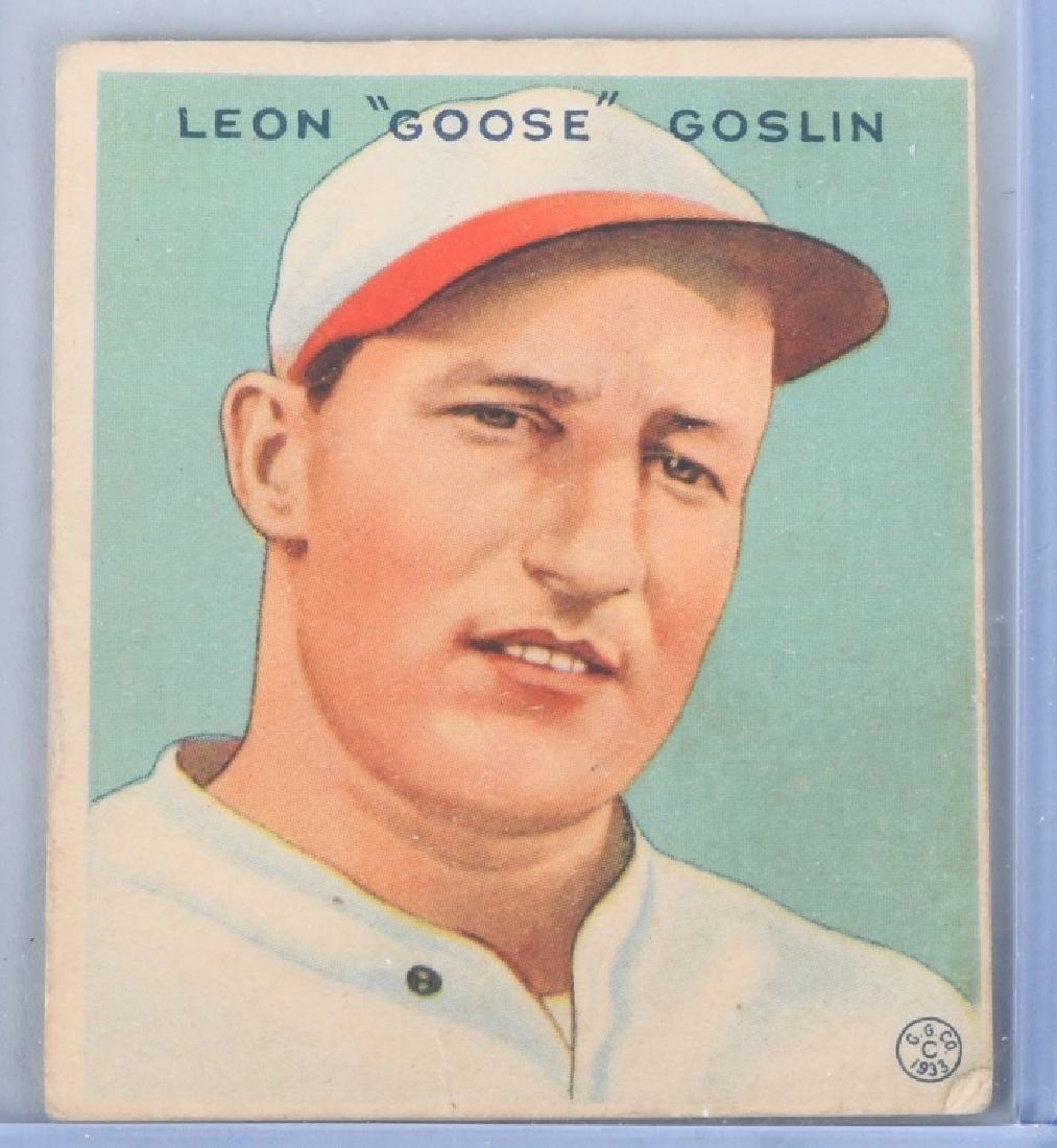 1933 GOUDEY (R319) GOOSE GOSLIN BASEBALL CARD #110