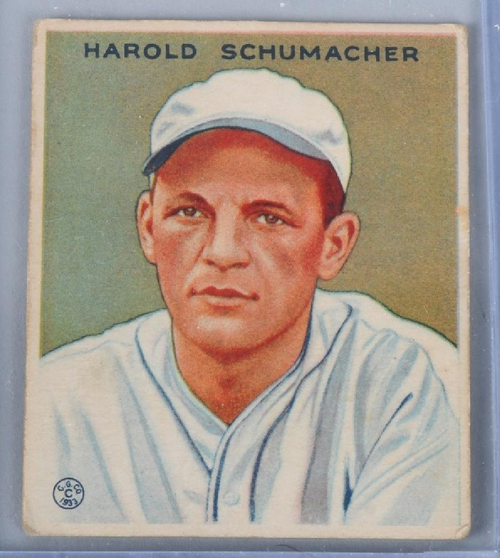 1933 GOUDEY (R319) SCHUMACHER BASEBALL CARD #240
