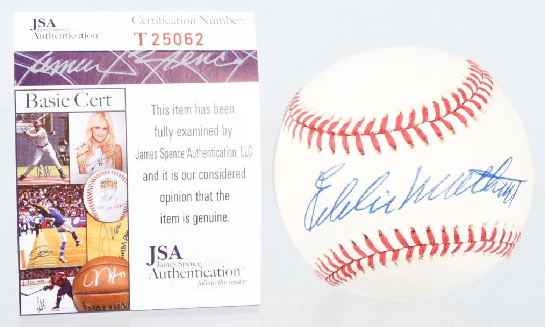 EDDIE MATHEWS SIGNED MLB BASEBALL 500 HOME RUNS