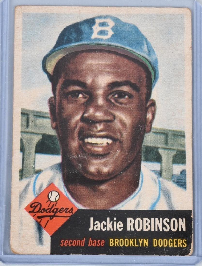 1953 JACKIE ROBINSON TOPPS BASEBALL CARD #1