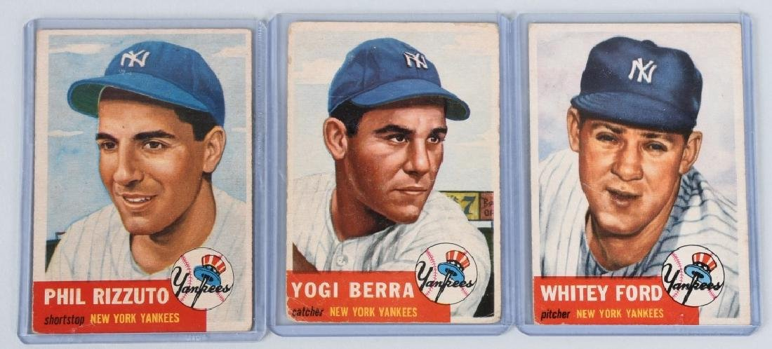 1953 TOPPS NEW YORK YANKEES BASEBALL CARDS