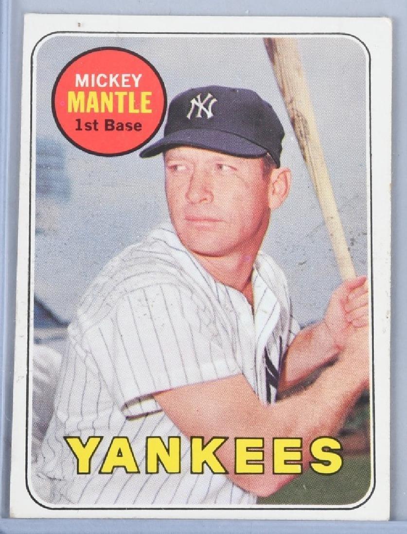 1969 TOPPS #500 MICKEY MANTLE BASEBALL CARD