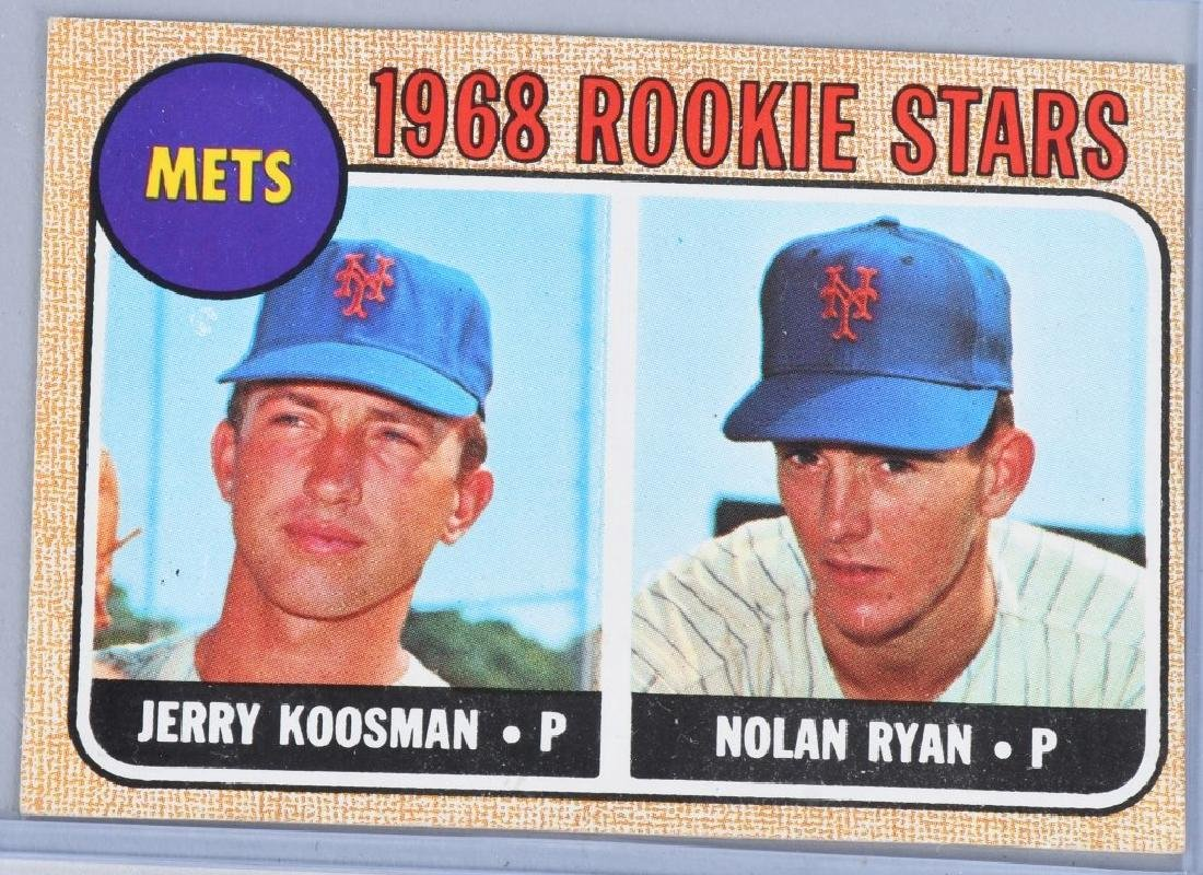 1968 Tops 177 Nolan Ryan Koosman Rookie Card